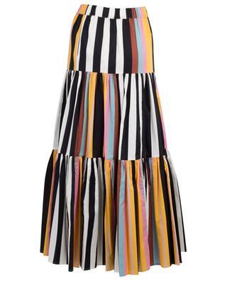 Jupe maxi rayée en popeline Peasant Skirt TORY BURCH
