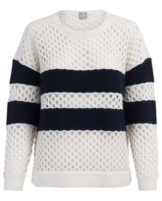 Striped openwork cashmere jumper FTC CASHMERE