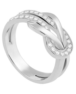 8°0 Medium white gold and diamonds ring FRED PARIS