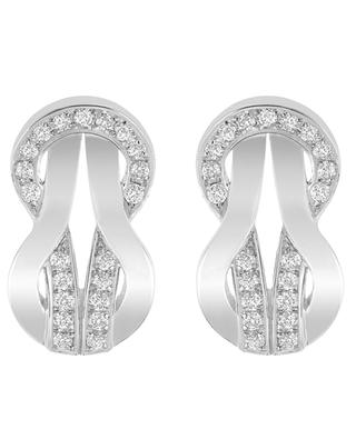 8°0 white gold stud earrings FRED PARIS