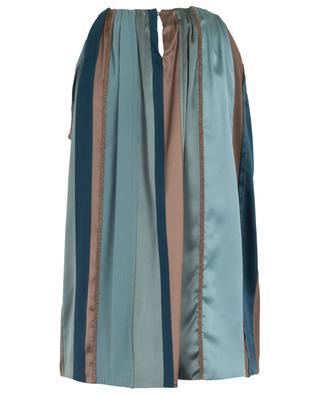 Sleeveless embroidered satin ribbon top BRUNELLO CUCINELLI