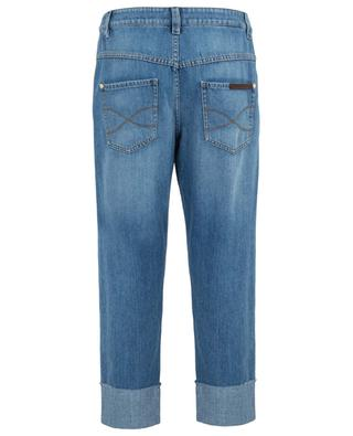 The Cropped Raw Edge cropped relaxed jeans BRUNELLO CUCINELLI