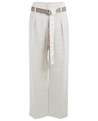 Pantalon large en lin avec ceinture BRUNELLO CUCINELLI