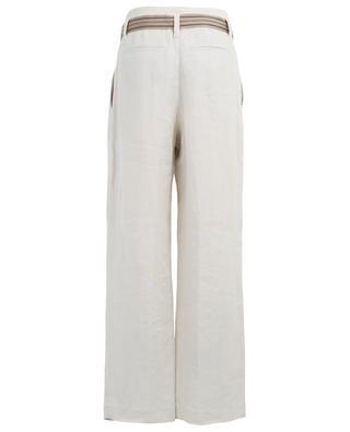 Belted wide-leg linen trousers BRUNELLO CUCINELLI