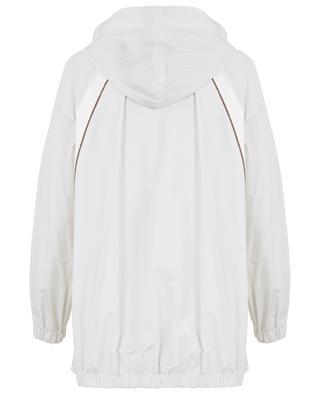 Embroidered taffeta and satin lightweight jacket BRUNELLO CUCINELLI