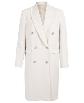 Manteau à double boutonnière bords bruts BRUNELLO CUCINELLI