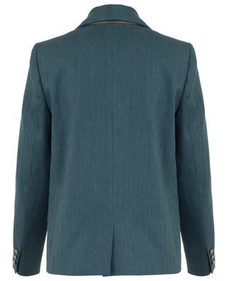Relaxed linen and cotton chevron pattern blazer BRUNELLO CUCINELLI