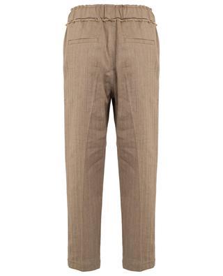 Pantalon cigarette motif chevron Shiny Ethnic Fringe BRUNELLO CUCINELLI