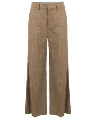 Super-large chevron pattern linen trousers BRUNELLO CUCINELLI