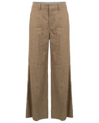 Pantalon super-large en lin motif chevron BRUNELLO CUCINELLI