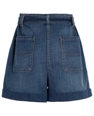 Oversized belted denim paperbag shorts BRUNELLO CUCINELLI