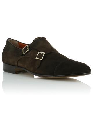 Monk-strap suede shoes SANTONI
