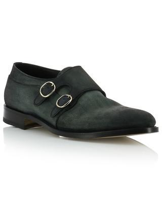 Double monk strap leather shoes SANTONI