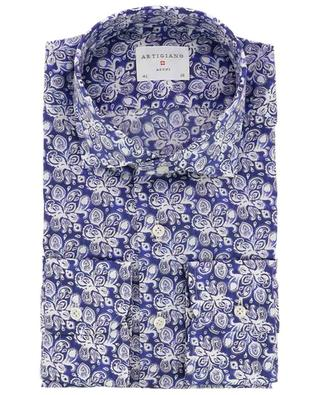 Rodi slim fit poplin floral shirt ARTIGIANO