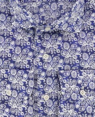 Slim-Fit Hemd mit Blütenprint aus Popeline Rodi ARTIGIANO