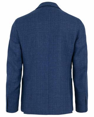 Blazer à boutonnière simple en laine et lin MAURIZIO BALDASSARI