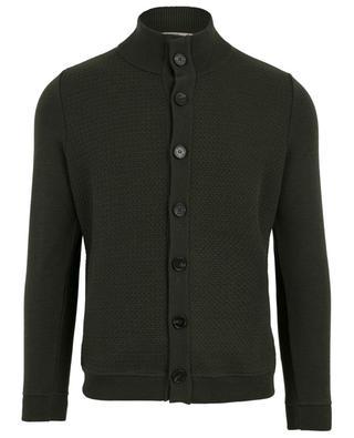 Carlton lghtweight button-down stand-up collar cardigan MAURIZIO BALDASSARI
