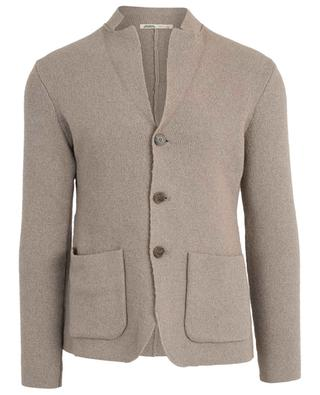 Lincoln supple mottled knit cotton blazer MAURIZIO BALDASSARI