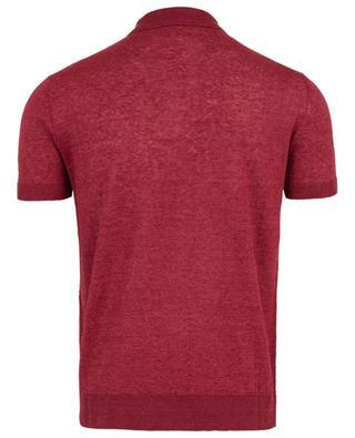 Mottled linen knit polo shirt MAURIZIO BALDASSARI