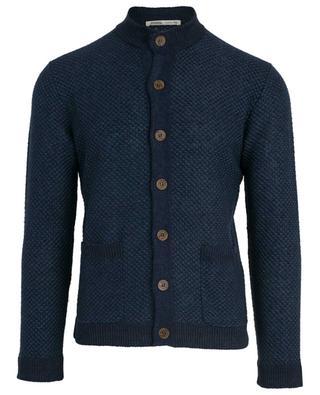 Textured linen cardigan MAURIZIO BALDASSARI