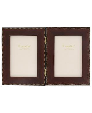 Mogano twofold lacquered wood photo frame NATALINI