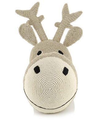 Head Reindeer golden crochet Christmas decoration ANNE-CLAIRE PETIT