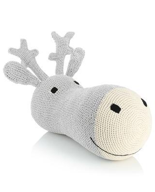 Head Reindeer silver crochet Christmas decoration ANNE-CLAIRE PETIT