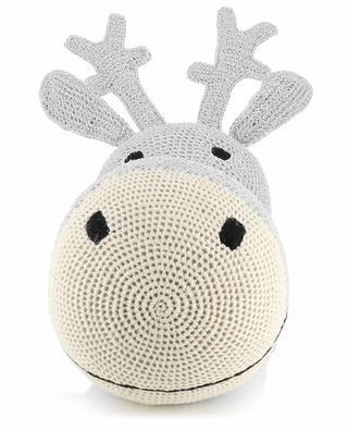 Décoration de Noël argentée crochetée Head Reindeer ANNE-CLAIRE PETIT