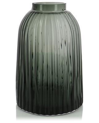 Vase aus geblasenem Glas Pleat LSA
