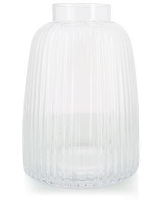 Pleat glass vase LSA