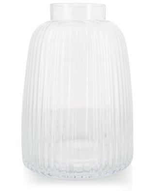 Pleat glass vase LSA