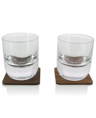 Set aus 2 Gläsern mit Untersetzern Whisky LSA