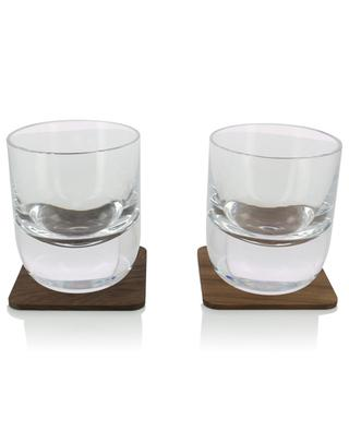 Whisky set of 2 glasses with coasters LSA