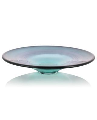 Forest mouthblown glass platter LSA