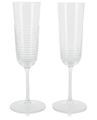 Groove set of 2 champagne flutes LSA