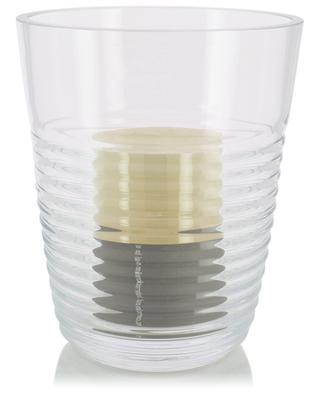Groove mouthblown glass lantern LSA