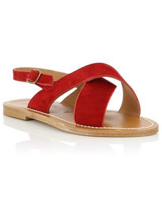 Flache Sandalen aus Leder Osorno K JACQUES