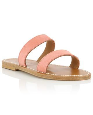 Bagatel leather flat sandals K JACQUES