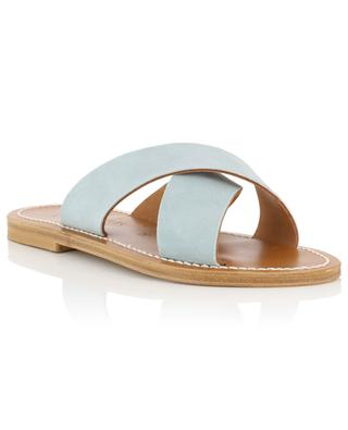 Temuco leather flat sandals K JACQUES