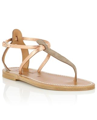 Buffon leather flat sandals K JACQUES