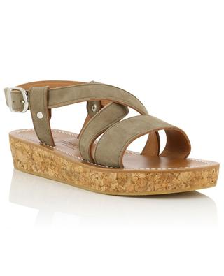 Fontenay leather wedge sandals K JACQUES