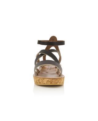 Sandales compensées en cuir Thoronet K JACQUES