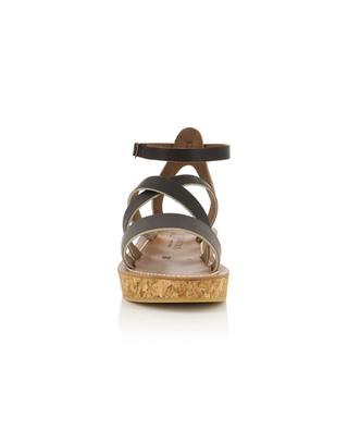 Thoronet leather wedge sandals K JACQUES