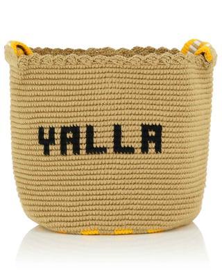 Yalla cotton knit bucket bag SORAYA HENNESSY
