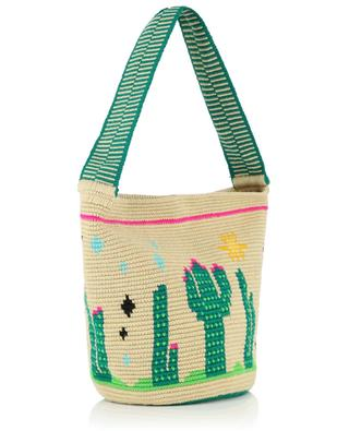 Sac seau en coton crocheté Endless Summer Cactus SORAYA HENNESSY
