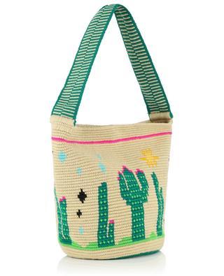 Endless Summer Cactus cotton crocheted bucket bag SORAYA HENNESSY