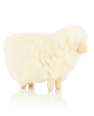 Mini-Schaf aus Wolle und Holz MOT0 FOUTAZUR