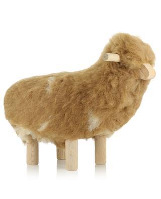 Mittelgrosses Schaf aus Wolle und Holz Momm FOUTAZUR