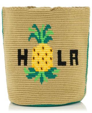 Hola pineapple adorned crocheted handbag SORAYA HENNESSY