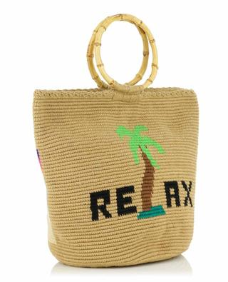 Relax crocheted handbag with bamboo handles SORAYA HENNESSY